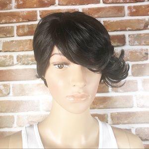 Synthetic Short Black Straight Full Cap Wig
